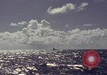 Image of bow of submarine underway Pacific Ocean, 1977, second 4 stock footage video 65675076051