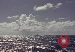 Image of bow of submarine underway Pacific Ocean, 1977, second 5 stock footage video 65675076051