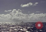 Image of bow of submarine underway Pacific Ocean, 1977, second 6 stock footage video 65675076051