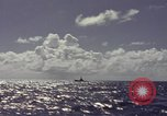 Image of bow of submarine underway Pacific Ocean, 1977, second 7 stock footage video 65675076051