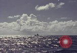 Image of bow of submarine underway Pacific Ocean, 1977, second 8 stock footage video 65675076051