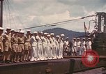 Image of British submarine, HMS Supreme Pacific Ocean, 1945, second 12 stock footage video 65675076121