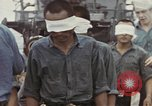 Image of Blindfolded Japanese Prisoners of War Pacific Theater, 1944, second 3 stock footage video 65675076125