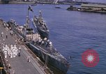 Image of American submarines arriving in home port Pearl Harbor Hawaii USA, 1944, second 12 stock footage video 65675076127