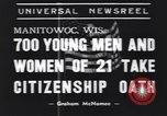 Image of American civilians Manitowoc Wisconsin USA, 1939, second 7 stock footage video 65675076139