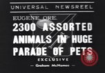 Image of pet's parade Eugene Oregon USA, 1939, second 1 stock footage video 65675076142