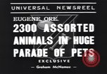 Image of pet's parade Eugene Oregon USA, 1939, second 2 stock footage video 65675076142