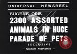 Image of pet's parade Eugene Oregon USA, 1939, second 3 stock footage video 65675076142