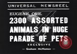 Image of pet's parade Eugene Oregon USA, 1939, second 6 stock footage video 65675076142