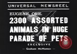 Image of pet's parade Eugene Oregon USA, 1939, second 7 stock footage video 65675076142