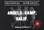 Image of frog jumping contest Angels Camp California USA, 1939, second 2 stock footage video 65675076143