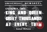 Image of King George VI Ottawa Ontario Canada, 1939, second 3 stock footage video 65675076144
