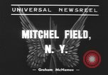 Image of remains of crashed Lockheed XP-38 airplane Mitchel Field Long Island New York USA, 1939, second 4 stock footage video 65675076312