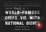 Image of International Chef's food show New York United States USA, 1939, second 1 stock footage video 65675076325