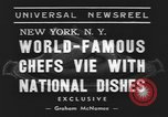 Image of International Chef's food show New York United States USA, 1939, second 2 stock footage video 65675076325
