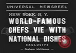 Image of International Chef's food show New York United States USA, 1939, second 3 stock footage video 65675076325