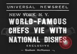 Image of International Chef's food show New York United States USA, 1939, second 4 stock footage video 65675076325