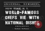 Image of International Chef's food show New York United States USA, 1939, second 5 stock footage video 65675076325