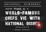 Image of International Chef's food show New York United States USA, 1939, second 6 stock footage video 65675076325