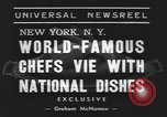 Image of International Chef's food show New York United States USA, 1939, second 7 stock footage video 65675076325