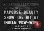 Image of Papoose beauty contest Salem Oregon USA, 1939, second 1 stock footage video 65675076326