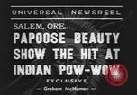 Image of Papoose beauty contest Salem Oregon USA, 1939, second 3 stock footage video 65675076326