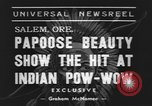 Image of Papoose beauty contest Salem Oregon USA, 1939, second 5 stock footage video 65675076326