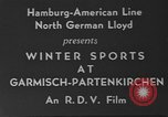 Image of winter sports Garmisch-Partenkirchen Germany, 1936, second 10 stock footage video 65675076351