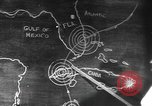 Image of Sketch of forecast hurricane track Caribbean, 1951, second 1 stock footage video 65675076422