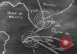 Image of Sketch of forecast hurricane track Caribbean, 1951, second 3 stock footage video 65675076422