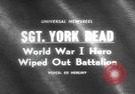 Image of Sergeant Alvin York United States USA, 1964, second 1 stock footage video 65675076465