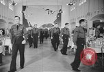 Image of U.S. Army Air Forces Flying Cadets in dining hall at Randolph Field Texas USA, 1940, second 2 stock footage video 65675076479