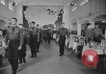 Image of U.S. Army Air Forces Flying Cadets in dining hall at Randolph Field Texas USA, 1940, second 5 stock footage video 65675076479