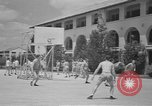 Image of U.S. Army Air Forces Flying cadets playing basketball Texas USA, 1940, second 2 stock footage video 65675076480