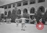 Image of U.S. Army Air Forces Flying cadets playing basketball Texas USA, 1940, second 3 stock footage video 65675076480