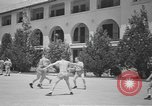 Image of U.S. Army Air Forces Flying cadets playing basketball Texas USA, 1940, second 4 stock footage video 65675076480