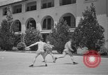 Image of U.S. Army Air Forces Flying cadets playing basketball Texas USA, 1940, second 5 stock footage video 65675076480