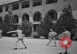 Image of U.S. Army Air Forces Flying cadets playing basketball Texas USA, 1940, second 6 stock footage video 65675076480