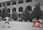 Image of U.S. Army Air Forces Flying cadets playing basketball Texas USA, 1940, second 7 stock footage video 65675076480