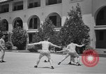 Image of U.S. Army Air Forces Flying cadets playing basketball Texas USA, 1940, second 9 stock footage video 65675076480