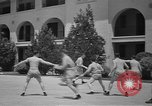 Image of U.S. Army Air Forces Flying cadets playing basketball Texas USA, 1940, second 10 stock footage video 65675076480