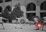 Image of U.S. Army Air Forces Flying cadets playing basketball Texas USA, 1940, second 11 stock footage video 65675076480