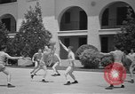 Image of U.S. Army Air Forces Flying cadets playing basketball Texas USA, 1940, second 12 stock footage video 65675076480