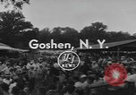 Image of Hambletonian racing Goshen New York USA, 1954, second 8 stock footage video 65675076499