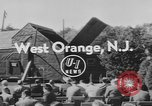 Image of unveiling plaque West Orange New Jersey USA, 1954, second 2 stock footage video 65675076503