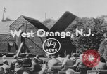 Image of unveiling plaque West Orange New Jersey USA, 1954, second 4 stock footage video 65675076503