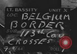 Image of United States soldiers Belgian border, 1944, second 4 stock footage video 65675076513