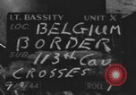 Image of United States soldiers Belgian border, 1944, second 5 stock footage video 65675076513