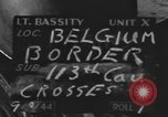 Image of United States soldiers Belgian border, 1944, second 8 stock footage video 65675076513