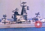 Image of Soviet Kresta-Class I Guided Missile Cruiser Mediterranean Sea, 1966, second 1 stock footage video 65675076552